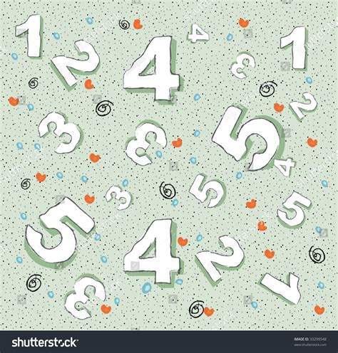 html pattern only positive numbers numbers wallpaper pattern stock vector illustration