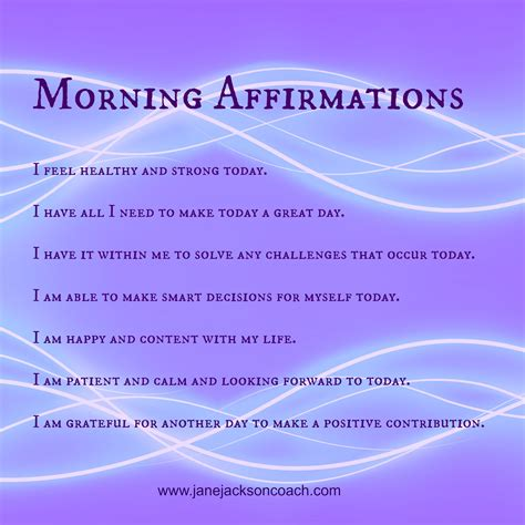 Powerful Resume Examples by Morning Affirmations For A Great Day Jane Jackson Coach