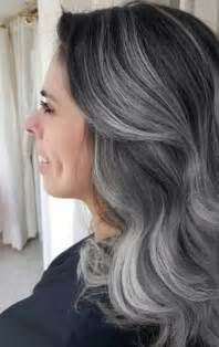 how to put highlights in gray hair gray lighter and dark brown on pinterest
