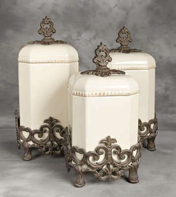 Tuscan Canisters Kitchen by Canisters Tuscan Kitchens And Kitchen Canisters On