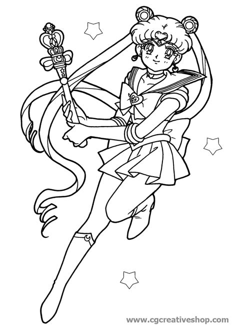 coloring book effect sailor moon disegno da colorare