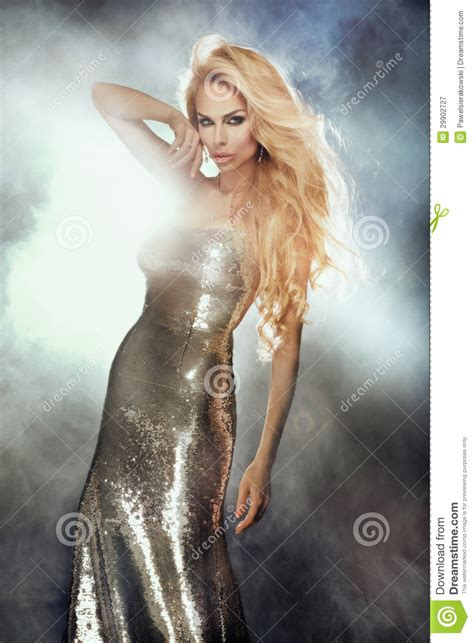 sexy woman blond hair stock photography image 10097442 portrait of cute blonde woman wearing silver fashionable