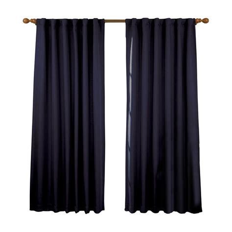 eclipse fresno curtains eclipse fresno blackout dark blue curtain panel 84 in