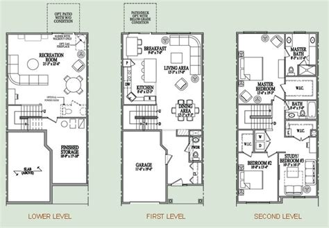 3 story floor plans three story condo floor plan my home