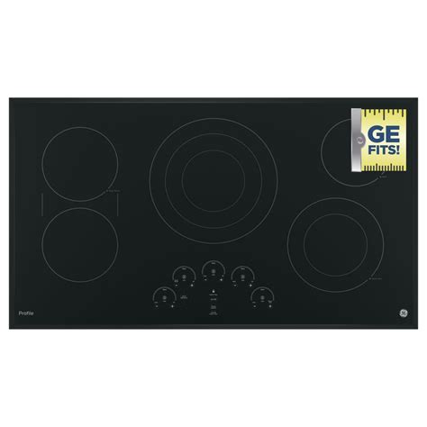 ge profile electric cooktop 36 ge profile 36 in radiant electric cooktop in black with 5
