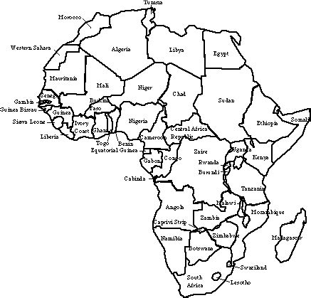 draw an africa map contents all about things