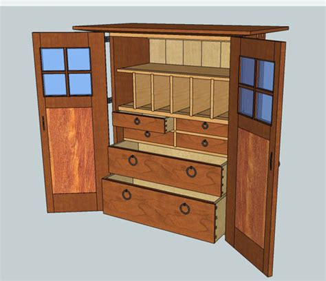 Wooden Tool Storage Cabinet Plans by Sketchup Model Available For Tool Cabinet Popular