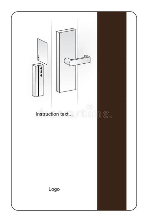 make a key card cart 227 o chave do hotel magn 233 tico ilustra 231 227 o do vetor