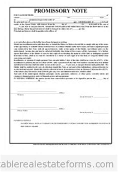 promissory note printable real estate forms