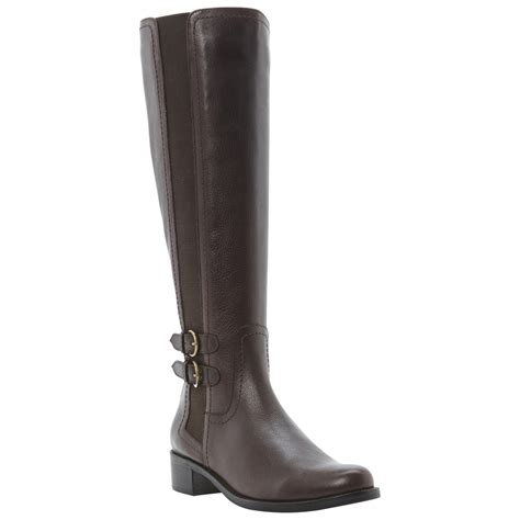 dune timpleton knee boots in brown lyst