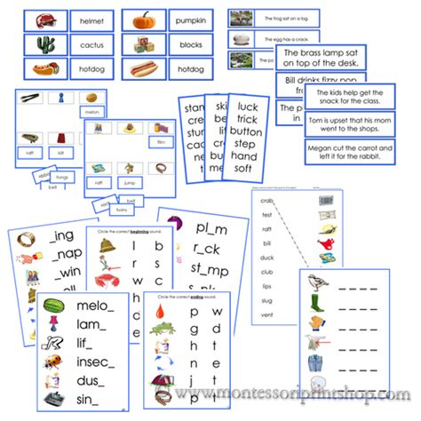printable montessori language materials montessori blue language series materials