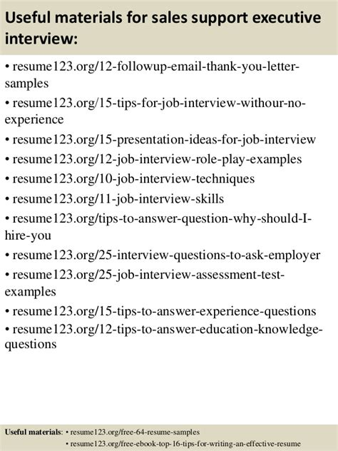Sales Support Executive Resume top 8 sales support executive resume sles
