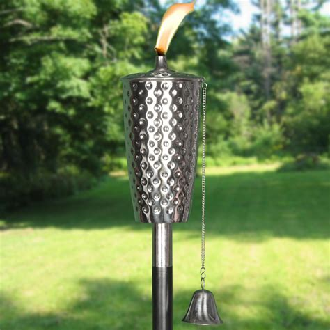 Dimpled Tiki Torch Tiki Torches Outdoor Patio Torches Outdoor Tiki Lights