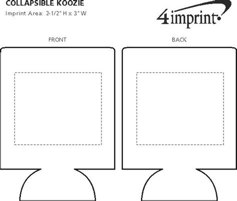 koozie design template 4imprint collapsible koozie 174 3568 imprinted with