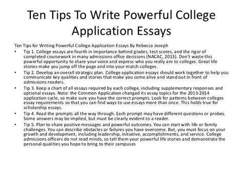 How To Write A Collage Essay by Tips For Writing College Essays Daily Writing Tips