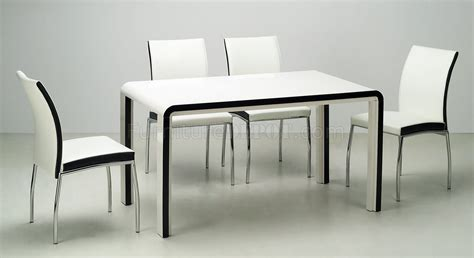 Modern Dining Room Table Chairs Black Beige Modern Dining Room Table W Optional Chairs