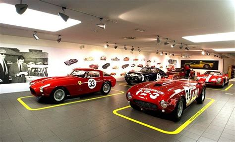 best car garages ferrari open new exhibition showing off some of the most