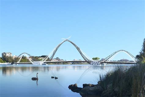 the bridge art design education consulting design change for swan river bridge business news