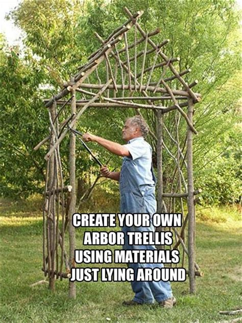 Garden Arbor Made From Branches Make Your Own Arbor Gardens Window And Trees
