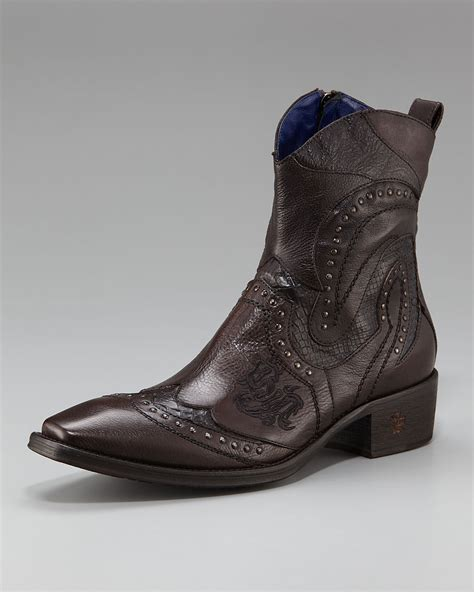 nason boots nason percy rivet boot in brown for lyst