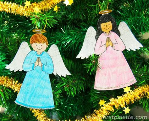 printable christmas angel ornaments printable christmas tree ornaments craft kids crafts