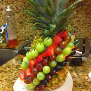 ananas dekoration pineapple fruit decoration fruit ideas