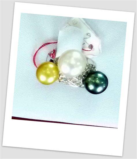 Perhiasan Set Gold Mutiara Manik handmade gold ring with south sea pearl ctr 082 harga