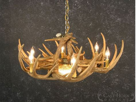 Deer Antler Chandeliers Whitetail Deer 9 Antler Chandelier Cast Horn Designs