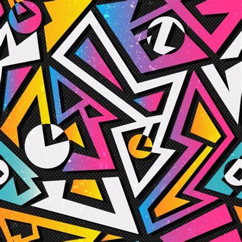 pattern graffiti artists rock out guitars