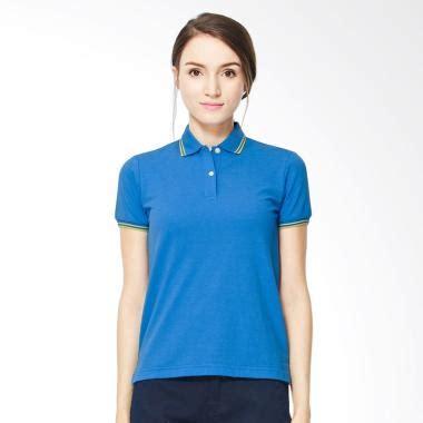 Real Pic Pemakaian Kaos Polo Anak Button jual giordano contrast collar kaos polo wanita blue harga kualitas terjamin