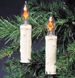 candle string lights set of 7 flicker candle clip on lights