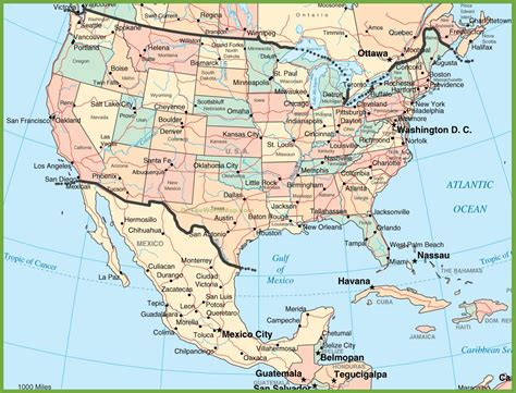 map of the united states and mexico usa and mexico map