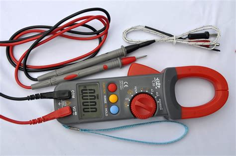 test capacitor ohm cl meter ammeter ohm volt multimeter dmm capacitor tester k thermocouple hvac