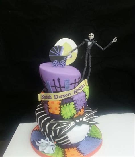 Nightmare Before Baby Shower Cake by Creepy Nightmare Before Cakes Cakecentral