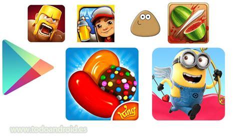 imagenes de juegos y mas los juegos android mas descargados mas de 100 millones de