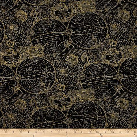 gold pattern textile gold standard metallic new world map black gold discount