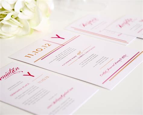 Avant Garde Wedding Invitations
