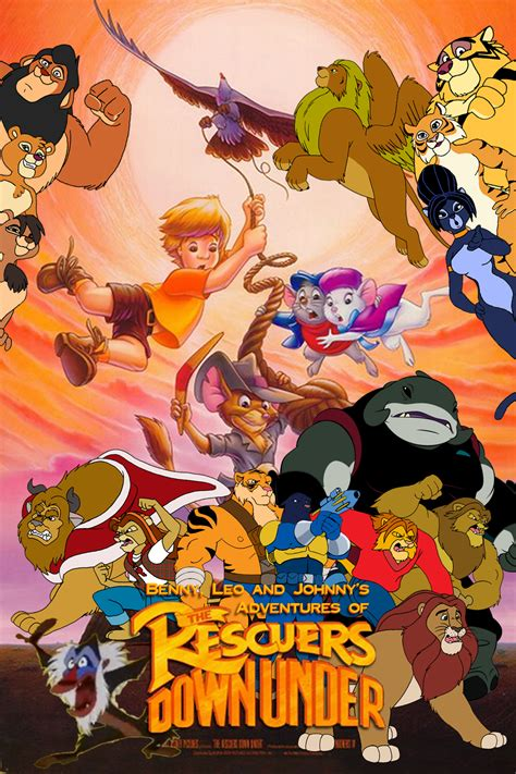 Kaos Scooby Doo 27 benny leo and johnny s adventures of the rescuers
