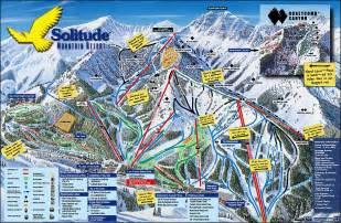 Utah Ski Resorts Map by Solitude Mountain Resort