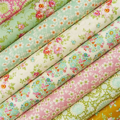 tilda bumblebee fabric pack quilting bee pink
