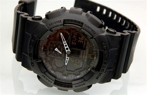 Casio G Shock Ga 100 Black casio men s g shock ga100 1a1 black review
