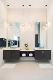 Floating double vanity bathroom contemporary with double vanity