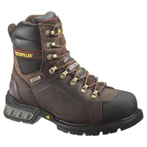insulated steel toe boots s cat footwear 8 quot excavator waterproof insulated steel