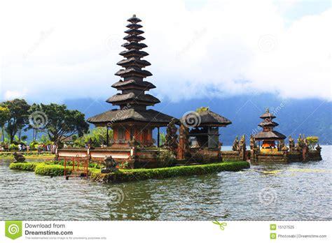 bali pagoda   lake royalty  stock photo image
