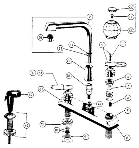 delta faucet repair parts diagram replacement single peerless kitchen faucet parts diagram kenangorgun com
