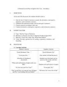 a detailed lesson plan in english