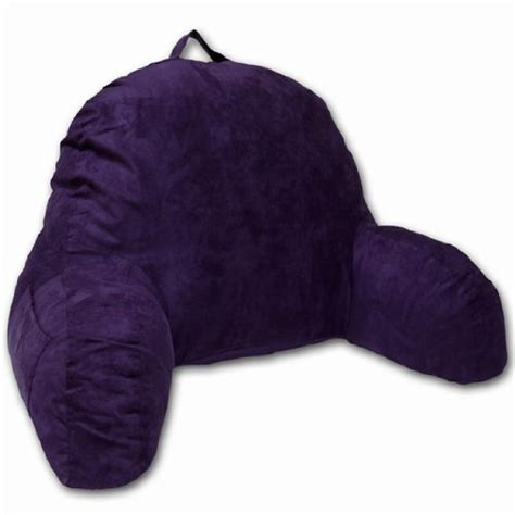 Cuddle Buddy Pillow With Arm by Purple Microsuede Bed Rest Reading Pillow Support Bed
