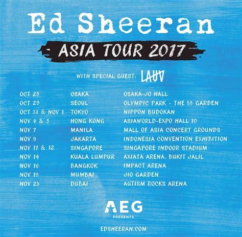 ed sheeran asia tour lauv to open for ed sheeran on asia tour editorial