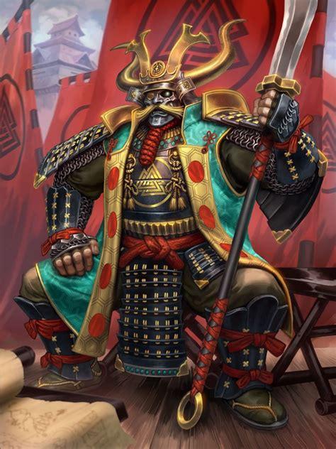 smite daimyodin by scebiqu samurai king warrior fighter
