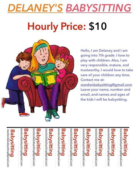 how to make a flyer for babysitting flyer cineworld